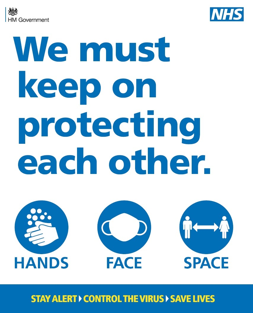 We must keep on protecting each other.  Hands. Face. Space. Stay alert. Contraol the vitus. Save lives